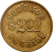 Canada $2 Lumber Co. Ltd. Store Horwood N.D.B. Token ND GOOD FOR $2ºº IN TRADE coin reverse