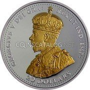 Canada 20 Dollars The Second Battle of Ypres 2015 Proof KM# 1861 GEORGIVS V DEI GRA: REX ET IND: IMP: 20 DOLLARS coin obverse