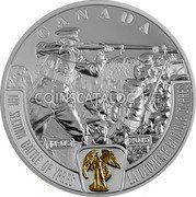 Canada 20 Dollars The Second Battle of Ypres 2015 Proof KM# 1861 CANADA 1915 2015 THE SECOND BATTLE OF YPRES LA DEUXIEME BATAILLE D'YPRES coin reverse