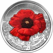 Canada 25 Cents Remembrance 2015 KM# 1852.2 CANADA REMEMBER ∙ SOUVENIR coin reverse