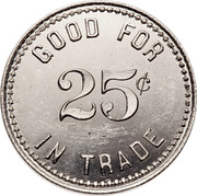 Canada 25¢ Lumber Co. Ltd. Store Horwood N.D.B. Token ND GOOD FOR 25¢ IN TRADE coin reverse