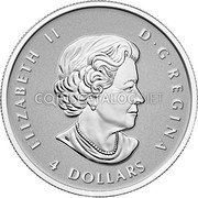 Canada 4 Dollars 2015 Proof KM# 1808 Silver Bullion Coins coin obverse