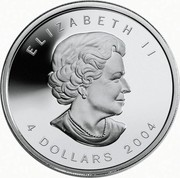 Canada 4 Dollars Arctic Fox 2004 Proof ELIZABETH II SB 4 DOLLARS 2004 coin obverse