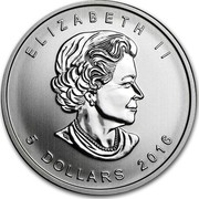 Canada 5 Dollars Five Blessings 2016 KM# A1728 ELIZABETH II 5 DOLLARS 2014 coin obverse