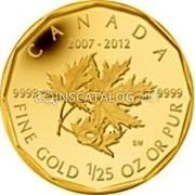 Canadian 1/25 Oz Gold 50 Cents