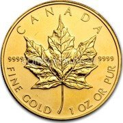 Canada 50 Dollars Gold Maple Leaf 2011 CANADA 9999 9999 FINE GOLD 1 OZ OR PUR coin reverse