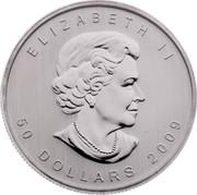 Canada 50 Dollars Maple Leaf 2009 ELIZABETH II 50 DOLLARS 2009 coin obverse