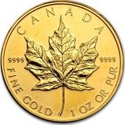 Canada 50 Dollars Maple Leaf 2011 CANADA 9999 9999 FINE GOLD 1 OZ OR PUR coin reverse