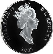 Canada 75 Dollars Atlantic Walrus 2003 Proof KM# 1102 ELIZABETH II D G REGINA 2003 coin obverse