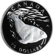 Canada 75 Dollars Atlantic Walrus 2003 Proof KM# 1102 CANADA 75 DOLLARS coin reverse