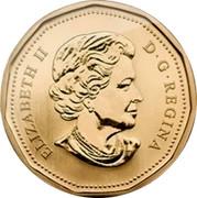Canada Dollar Baby Gift 2014 KM# 1588 ELIZABETH II D G REGINA coin obverse