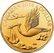 Canada Dollar Baby Gift 2014 KM# 1588 CANADA 2014 DOLLAR coin reverse