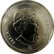 Canada Dollar Montreal Canadians 2008 KM# 723a ELIZABETH II D G REGINA coin obverse