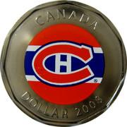 Canada Dollar Montreal Canadians 2008 KM# 723a CANADA DOLLAR 2008 coin reverse
