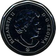 Canada Dollar Montreal Canadiens 2008 KM# 792 ELIZABETH II D G REGINA coin obverse