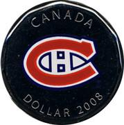 Canada Dollar Montreal Canadiens 2008 KM# 792 CANADA DOLLAR 2008 coin reverse