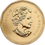 Canada Dollar (Party) KM# 1589 ELIZABETH II D G REGINA SB coin obverse