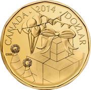Canada Dollar (Party) KM# 1589 CANADA 2014 DOLLAR CRR coin reverse