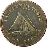Canada Halfpenny Token Commercial Change 1833 HALFPENNY TOKEN UPPER CANADA coin obverse