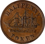 Canada Halfpenny Token Fisheries & Agriculture ND HALFPENNY TOKEN coin obverse