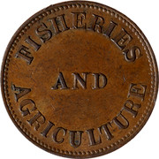 Canada Halfpenny Token Fisheries & Agriculture ND FISHERIES AND AGRICULTURE coin reverse