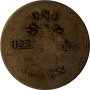 Canada One Halfpenny Ships - colonies & commerce 1815  SHIPS, COLONIES & COMMERCE 1815 coin obverse