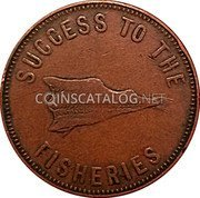 Canada Penny E.L. Lydiard Francis Longworth (1859-1860) SUCCESS TO THE FISHERIES coin obverse