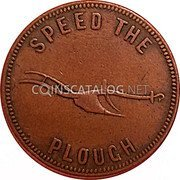 Canada Penny E.L. Lydiard Francis Longworth (1859-1860) SPEED THE PLOUGH coin reverse
