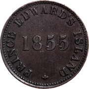 Canada Penny Self government and free trade 1855 PRINCE EDWARD ISLAND 1855 coin obverse