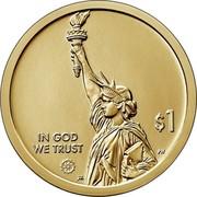 USA $1 (North Caroline) $1 IN GOD WE TRUST PH JK coin obverse