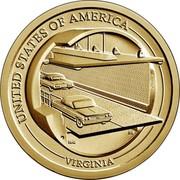 USA $1 (Virginia) UNITED STATES OF AMERICA MMS JPM VIRGINIA coin reverse