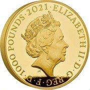 UK 1000 Pounds (HRH The Prince Philip) ELIZABETH II D G REG F D 1000 POUNDS JC coin obverse