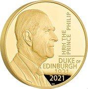 UK 1000 Pounds (HRH The Prince Philip) HRH THE PRINCE PHILIP DUKE OF EDIMBURG 1921 2021 coin reverse