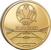 Belgium 2 1/2 Euro (UEFA EURO 2020) UEFA TM EURO2020 © UEFA TM coin reverse