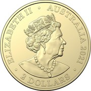 Australia 2 Dollars Indigenous Military Service 2021 C ELIZABETH II AUSTRALIA 2021 2 DOLLARS JC coin obverse