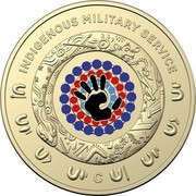 Australia 2 Dollars Indigenous Military Service 2021 C INDIGENOUS MILITARY SERVICE coin reverse