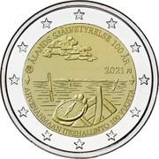 Finland 2 Euro 100th Anniversary of Autonomy of Aland Islands 2021 ÅLANDS SJÄLVSTYRELSE 100 ÅR 2021 FI AHVENANMAAN ITSEHALLINTO 100 VUOTTA coin obverse
