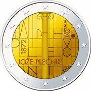 Slovenia 2 Euro Arh Plecnik 2022 1872 SLOVENIJA 2022 ARH PLEČ NIK JOŽE PLEČNIK coin obverse