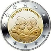 Malta 2 Euro (Heroes Of The Pandemic) HEROES OF THE PANDEMIC MALTA 2021 coin obverse