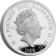UK 2 Pounds (Her Majesty Queen Elizabeth II 95th Birthday) ELIZABETH II D G REG F D 2 POUNDS 2021 coin obverse