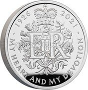 UK 2 Pounds (Her Majesty Queen Elizabeth II 95th Birthday) MY HEART AND MY DEVOTION 1926 2021 coin reverse
