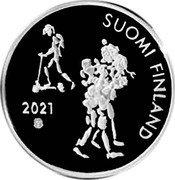 Finland 20 Euro (100 Anniversary of Compulsory schooling) SUOMI FINLAND 2021 coin obverse