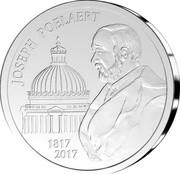 Belgium 20 Euro Joseph Poelaert 2017 JOSEPH POELAERT 1817 2017 coin reverse