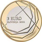 Slovenia 3 Euro (300th Anniversary of the Skofja Loka Passion) 2021 3 EURO SLOVENIJA coin obverse