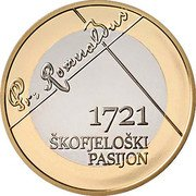 Slovenia 3 Euro (300th Anniversary of the Skofja Loka Passion) 1721 ŠKOFJELOŠKI PASIJON PR ROMUALDUS coin reverse