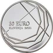Slovenia 30 Euro 300th Anniversary of the Skofja Loka Passion 2021 30 EURO SLOVENIJA 2021 coin obverse