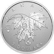 Canada 5 Dollars (25th Anniversary of Canada's Arboreal Emblem) CANADA 5 DOLLARS CD 1996 2021 coin reverse
