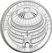 UK 5 Pounds (150th Anniversary of the Royal Albert Hall) ROYAL ALBERT HALL 1871 2021 AD coin reverse