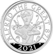 UK 5 Pounds (Alfred the Great) ALFRED THE GREAT 871 2021 coin reverse