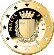 Malta 50 Euro Albrecht Dürer 550 Years 2021 Proof MALTA 2021 coin obverse